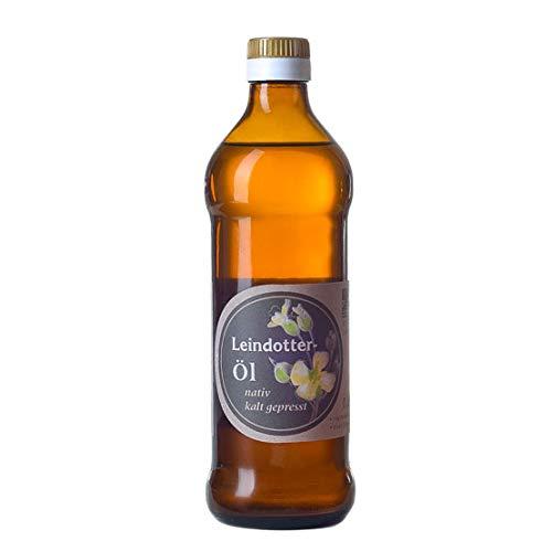 Leindotteröl; Familienbetrieb Ölmühle Garting, 500ml Flasche, Premium Qualität, 100% naturbelassen, kaltgepresst, Rohstoffe aus der Region
