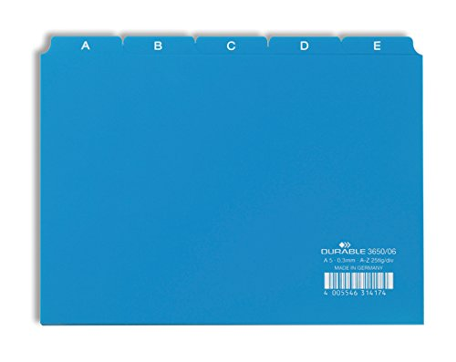 Preisvergleich Produktbild Durable 365006 Leitregister A - Z (A5 quer) 1 Stück blau