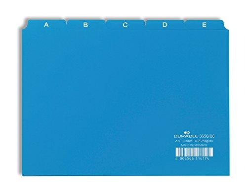 Durable 365006 Leitregister A - Z (A5 quer) 1 Stück blau