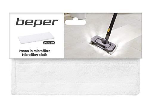 BEPER P202VAL002 Panno in Microfibra, Mop Pad, Lavabile, Riutilizzabile, Misura 34*10 cm, Compatibile con il Pulitore e scopa igienizzante 10in1 Beper, Compatibile con altre scope con misure di testa