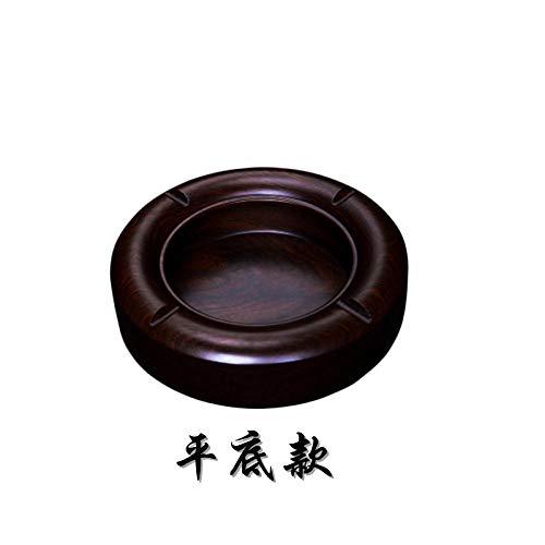 ash Tray Ashtray for Home Ashtray Creative Retro Coffee Table Decoration Decoration Ebony-Flat Bottom_Extra Small (Outer Diameter 12cm)