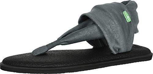 Sanuk Women's Yoga Sling 2 Shimmer Sandal, Urban Chic, 10 M US