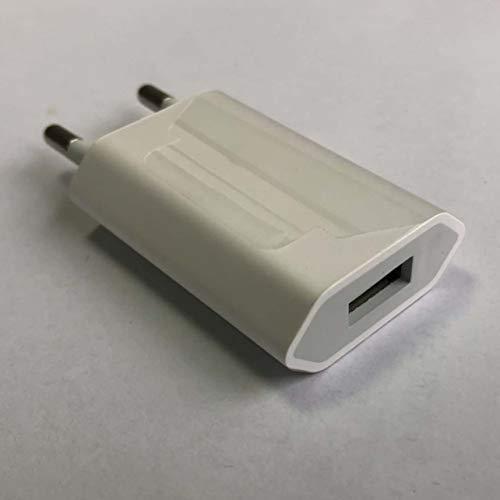 MARSPOWER Cargador de Enchufe USB Cargador Universal de Pared Enchufe estándar Europeo 5V1A Cabezal de Carga USB para teléfono móvil para teléfono 7/8 / 8P / X / 11/11/12 / Promax/Android