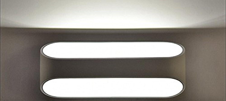 Aluminium führte Wand-Lampen-Nachttisch-Wohnzimmer-Schlafzimmer-Hotel-Treppenhaus-Gang, weies Licht 15W-41×10×10cm