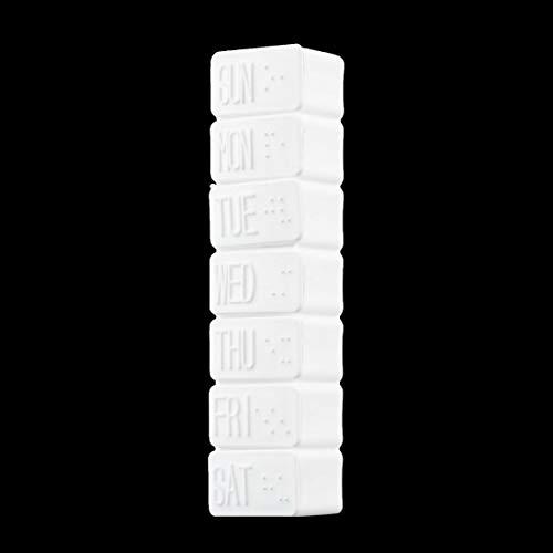 SeniorMar 1pc Una Semana 7 días Pastilla de Medicina pequeña Caja de medicamento Pastilla de medicamento Mini contenedor de Pastillero Soporte de Caja de plástico no extraíble