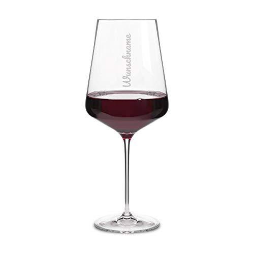 Leonardo Rotweinglas XXL 750 ml individuelle Gravur Geschenkidee für Frauen Weinglas - Schriftzug Name