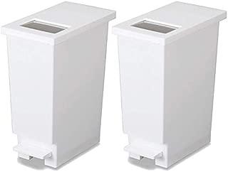 新輝合成 フタ付きゴミ箱 ユニード ゴミ箱 ペダル プッシュ ペール ホワイト 2個セット 20L