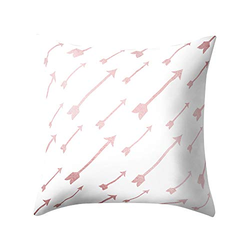 Rose Gold Pink Cushion Cover Square Pillowcase Home Decoratio, Home Decor Sales,for Halloween Day (M)