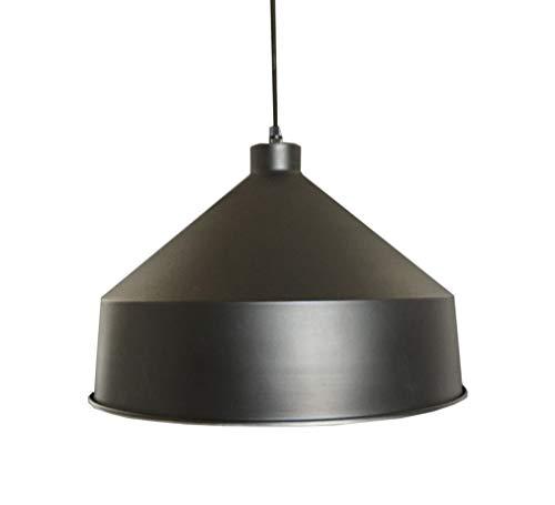 Luminaire Arizona, suspension métal, 60 W, noir, ø 39 x H 28 cm