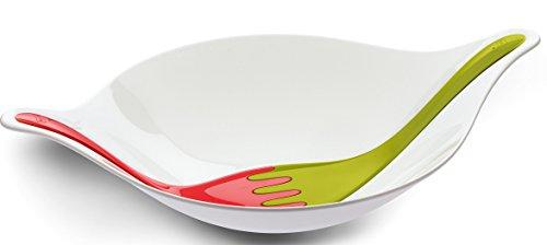 Koziol Saladier en Plastique 3691110, 38,6 x 57,5 x 14,6 cm, Blanc/Corail/Vert Clair
