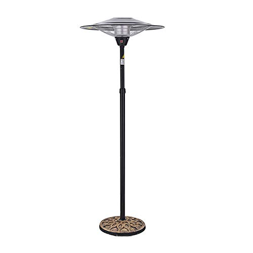 Great Deal! MING REN Umbrella Electric Heater, Outdoor Waterproof 3000W 3 File Adjustable For Garden...