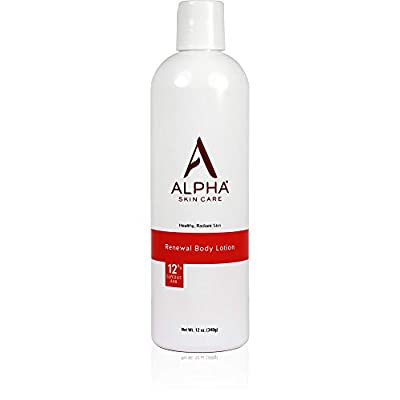 Alpha Skin Care Renewal Body Lotion | Anti-Aging Formula |12% Glycolic Alpha Hydroxy Acid (AHA) | Reduces the Appearance of Lines & Wrinkles | For All Skin Types | 12 Oz