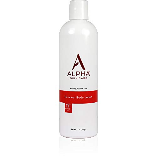 Alpha Skin Care Revitalizing Body Lotion with 12% Glycolic AHA, 12 Ounce by Alpha Skin Care