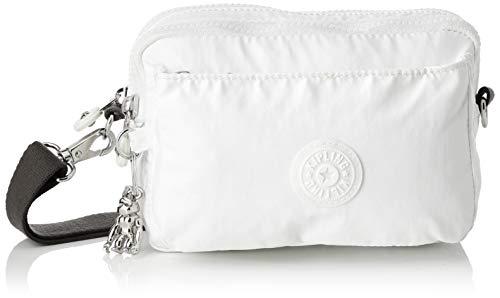 Kipling Damen Abanu Multi Umhängetasche Weiß (White Metallic)