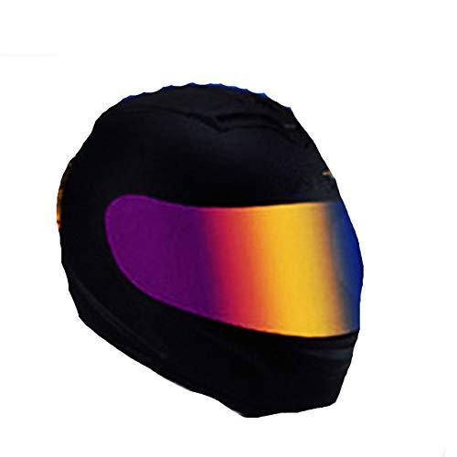 Dgtyui Nuovo casco da moto con casco da corsa fuoristrada integrale di alta qualità, buona traspirabilità, rivestimento morbido e confortevole - Gloss X-color