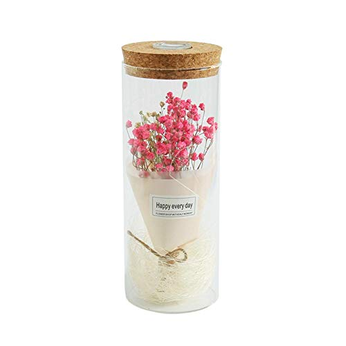 GotateStore artificial dried wers gypsophila wer in glass with light dome gift artificial wers dried artificial dried wers rose dome wer gypsophila gla