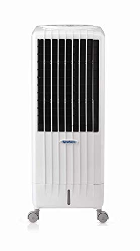 Symphony DIET8I Enfriador, purificador y humidificador, 95 W, 12.5 litros, 65 Decibeles, Plástico, 3 Velocidades, Blanco, 34x35x78 cm
