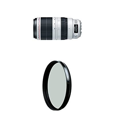 Canon EF 100-400mm f/4.5-5.6L IS II USM Lens w/ B+W 77mm HTC Kaesemann Circular Polarizer by