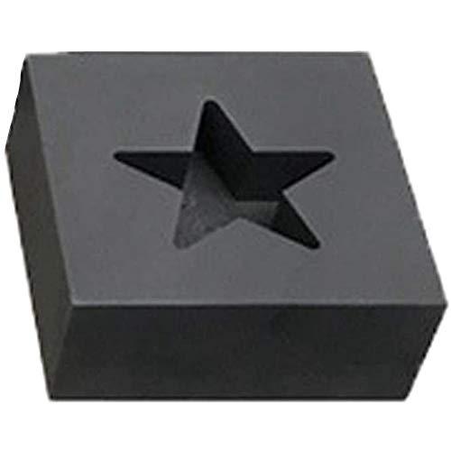 Andylies Molde de Lingotes Cuadrados de Crisol de Grafito para Fundir Oro, Plata, MáQuina, Herramienta de JoyeríA, Cinco Estrellas