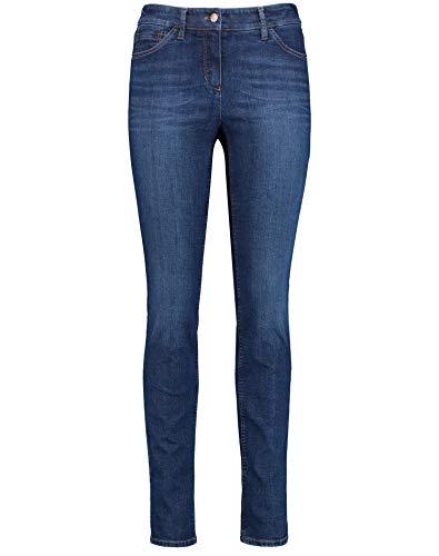 Gerry Weber Damen 5-Pocket Jeans Best4me Skinny Schlanke Passform Dark Blue Denim mit use 36
