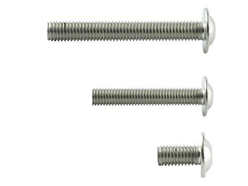 M5x20 mm (100 Stück) Linsenkopf-Schrauben mit Innensechskant und Flansch - Edelstahl VA A2 V2A - Edelstahlschrauben mit Flachkopf rostfrei - ISO 7380 | AGBERG