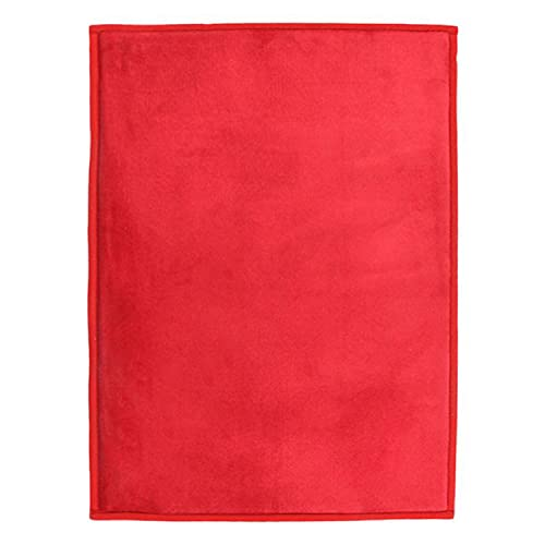 Tapis Extra-Doux Effet Velour, 170cm x 120cm, Rouge