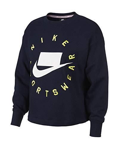 Nike W NSW Crew FLC Ft Bf T-shirt met lange mouwen voor dames