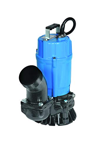 Tsurumi HS3.75S; semi-Vortex Submersible Trash Pump w/Agitator, 1hp,...
