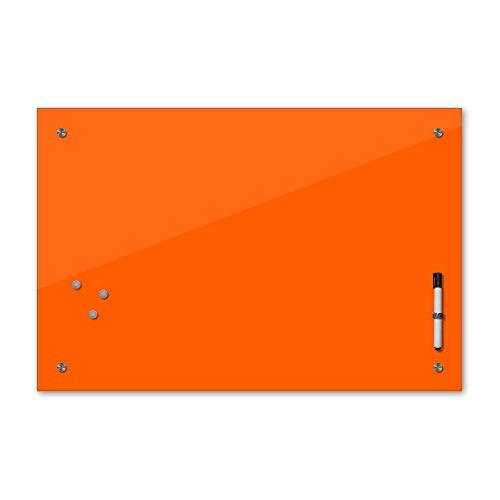 Bilderdepot24 Memoboard - 60 x 40 cm, 24 Farben - orange - Glas - Glasboard - Glastafel - Magnetwand - Pinnwand - Mehrzwecktafel Farbton - Grundfarbe - einfarbige Schreibtafel