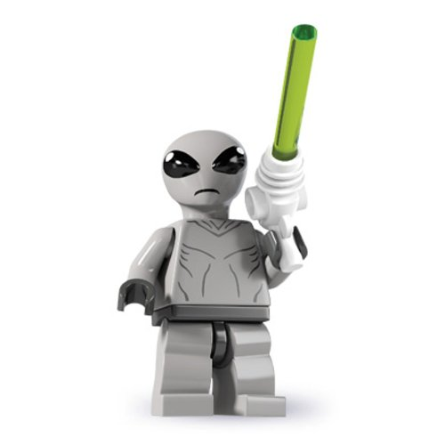 LEGO Minifiguras Coleccionables: Clásico Alien Minifigura (Serie 6)
