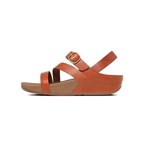 Fit Flop Damen The Skinny Tm Z-Cross Peeptoe Sandalen, Braun (Dark Tan Leather 277), 39 EU