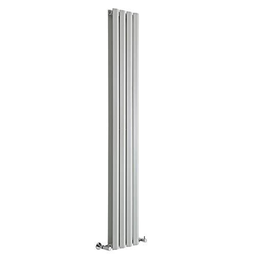 Radiador de Diseño Vertical Doble: Blanco