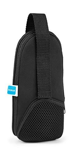 MAM Thermal Bag mit Isolierschicht, Thermotasche hält Flüssigkeiten warm und kalt, Isoliertasche für viele handelsübliche Babyflaschen, schwarz