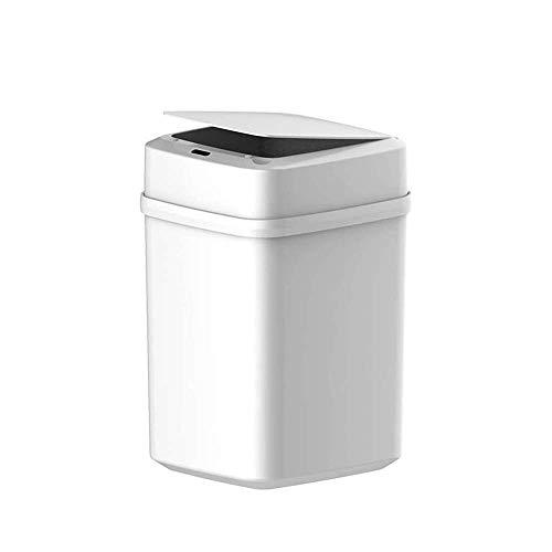 Cubos de Basura de Cocina Cubo de Basura Inteligente Contenedores sin Contacto de 10L, Cubierta de inducción de Sellado automático con Sensor de Movimiento, contenedor de Basura para Oficina, hogar,