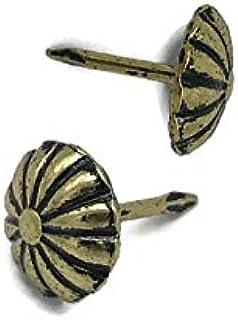 "Daisy Seat Head Tacks 1/2"" Long 1/2"" Head Diameter 50 Tacks Pack | Decorative Furniture Upholstery Pins | TKN-6 (1)"