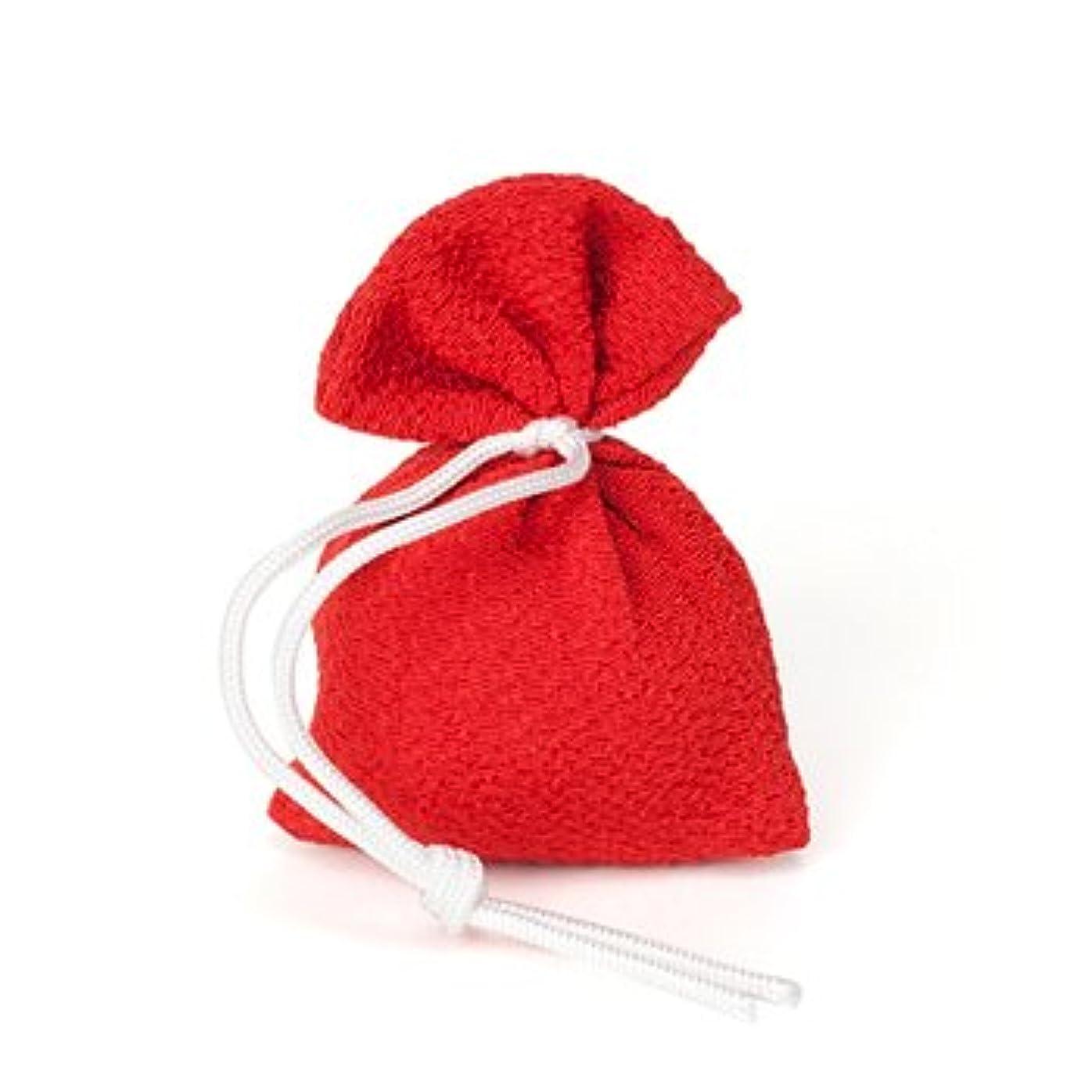 ラフ楽観的平衡松栄堂 匂い袋 誰が袖 上品(無地) 1個入 (色をお選びください) (赤)