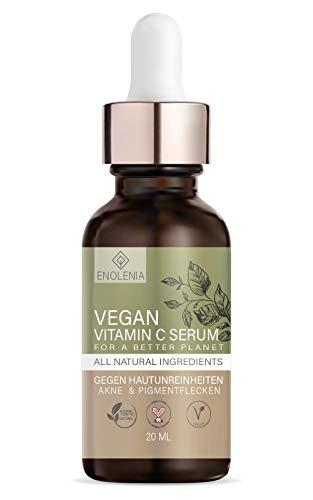 NEU: Enolenia® Vitamin C Serum – glatte, reine und strahlende Haut - Pigmentflecken, Akne & Hautunreinheiten – VEGAN und ohne Tierversuche – Hyaluron für Frauen & Männer