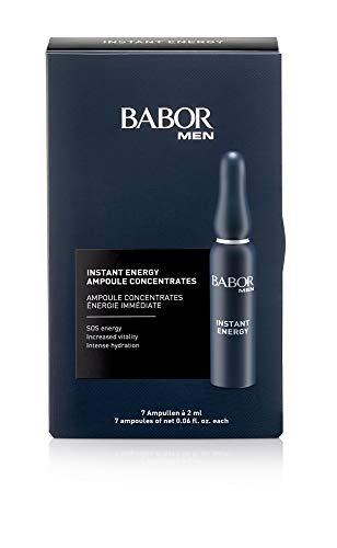BABOR MEN Instant Energy, Serum Ampullen für das Gesicht, Mit Vitamin C und Koffein für mehr Energie, Vegane Formel, Ampoule Concentrates, 7 x 2 ml