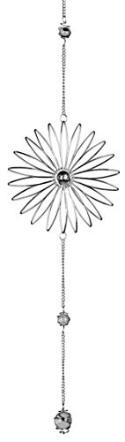 dekojohnson Edle Fensterdeko Blüten-Hänger Blumen-Deko-Hänger Metall-Blume Fensterschmuck Hängedeko Frühlingsdeko silber 58cm Sonnenfänger
