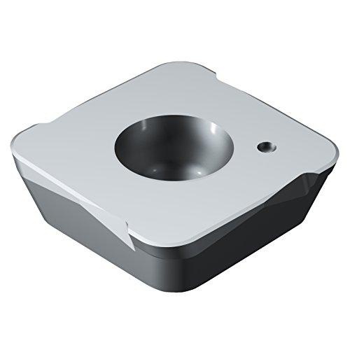 Sandvik Coromant 490R-140420E 6190 Carbide Milling Insert, 0.08 mm Corner Radius, Positive Chip Breaker (Pack of 10)