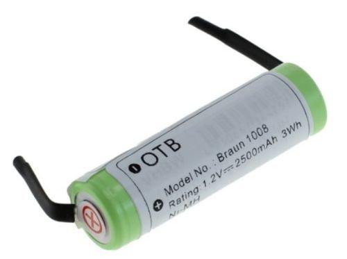 Preisvergleich Produktbild Akku NIMH,  2500mAh,  kompatibel BRAUN 1008,  Phillips HX 5350 und andere