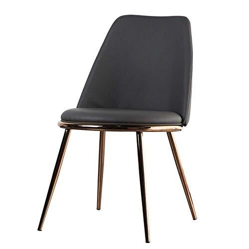 SPRINGHUA Sillas laterales de comedor con patas de metal resistente, cojín de poliuretano, asiento trasero de comedor (color, tamaño: tamaño libre)