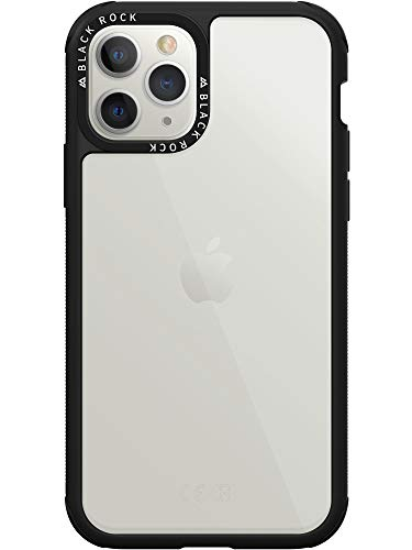 Black Rock - Hülle Handyhülle Robust Transparent Hülle Passend für Apple iPhone 11 Pro Max | Schutzhülle, Clear Cover (Schwarz)