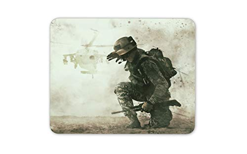 Battlefield Soldier Mouse Mat Pad - War Helicopter Army Computer Gift #15864