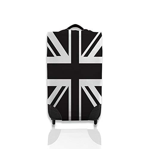 Black & White Union Jack Design Suitcase Cover Easily Identify Your Case *Suitcase Not Included* Small