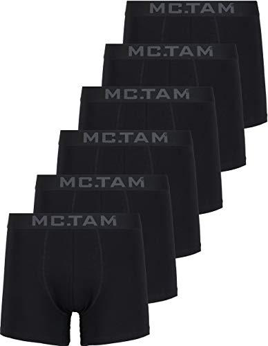 MC.TAM® Herren Boxershorts 95% Baumwolle(Oeko Tex® Standard 100) 6er Pack Ergonomische Passform Unterhosen Männer Unterwäsche Set, 4XL, 6er Pack PSG