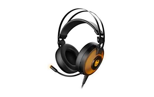 Cascos Gaming KROM KAYLE -NXKROMKAYLE - Auriculares con microfono, RGB flow 7 colores, Sonido virtual 7.1, Altavoces 50mm, Diadema Ajustable, Micro Flexible, USB, Compatible PS4, PS5 y PC, Negro