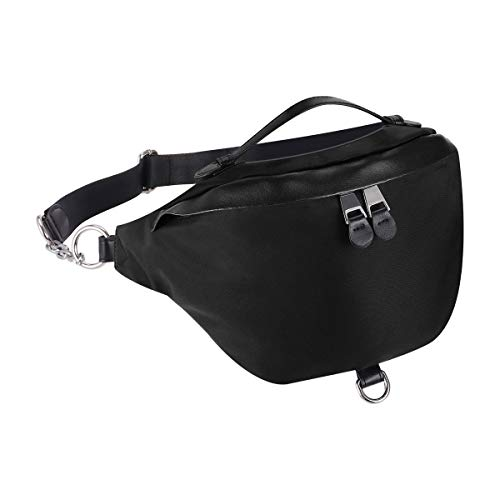 XEYOU Crossbody Bags for Men Women Large Black Fanny Waist Pack Bag for Hiking Climbing Traveling Sling Bag with Zipper Compartment for Sports Cycling Bike Travel Essentials