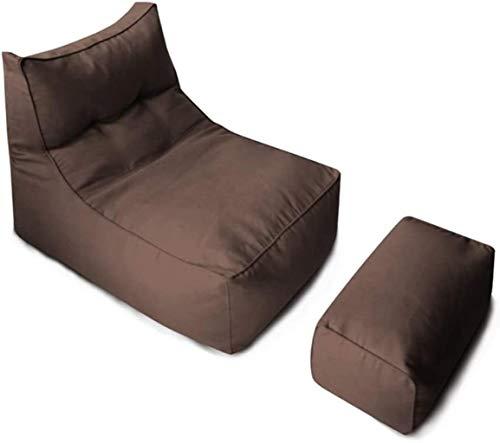 Sitzsack Stuhlfüller Startseite Sofa Sitz Wohnzimmer Balkon Sitzsack Im Freien Garten-Einzel Lehnstuhl For Kinder Erwachsene Brown Mit Fußrasten für erwachsene Kinder werfen (Color : Dark Brown)