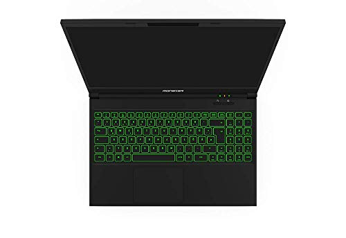 Monster Abra A5 V15.7.1 Gaming Notebook, Intel Core i5 10300H CPU, 16GB RAM, 512GB SSD, Nvidia GeForce GTX-1650Ti, Windows 10 Home 15.6'' FHD 120Hz IPS-LED-Bildschirm + Rucksack
